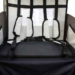 Arneses de seguridad ajustables y acolchados del interior del remolque de bicicleta para niños Homcom