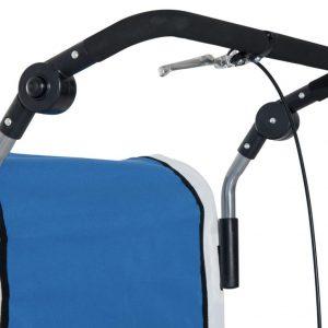 Freno de mano situado en el manillar del remolque de bicicleta para niños Homcom