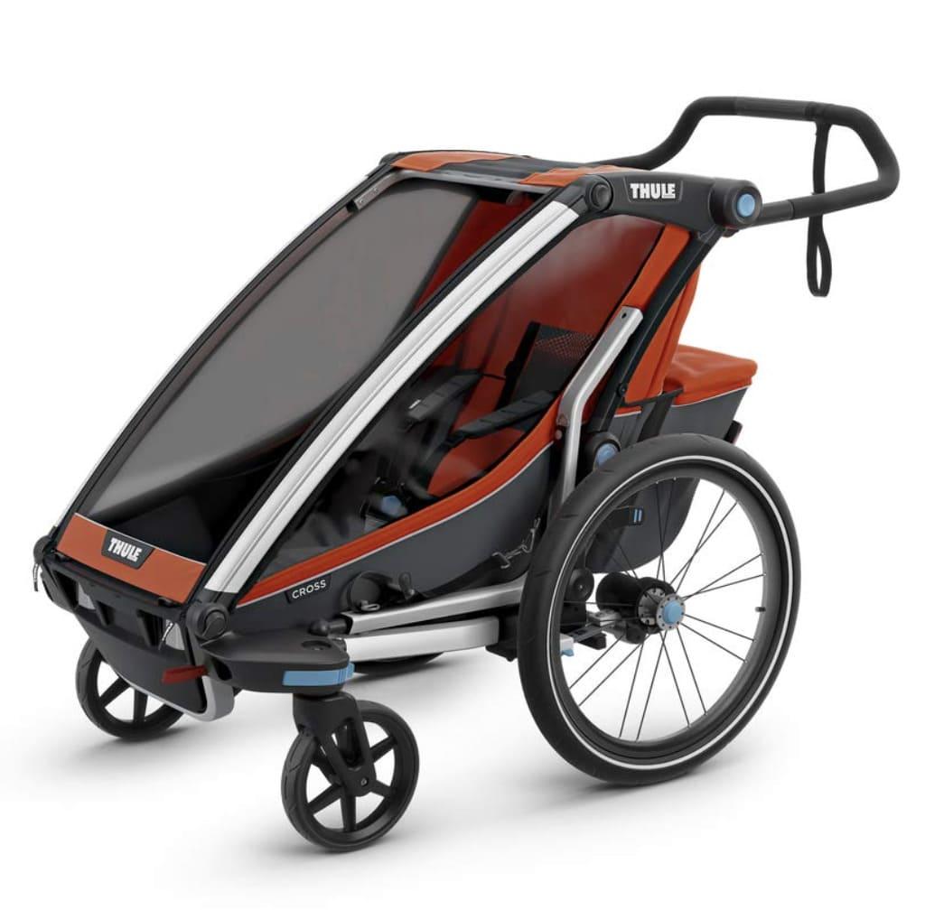 Remolque de bicicleta para nilo Thule Chariot Cross convertido en cochecito de paseo
