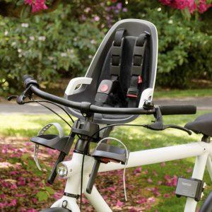Silla bici bebe hamax Observer instalada en la bici del adulto