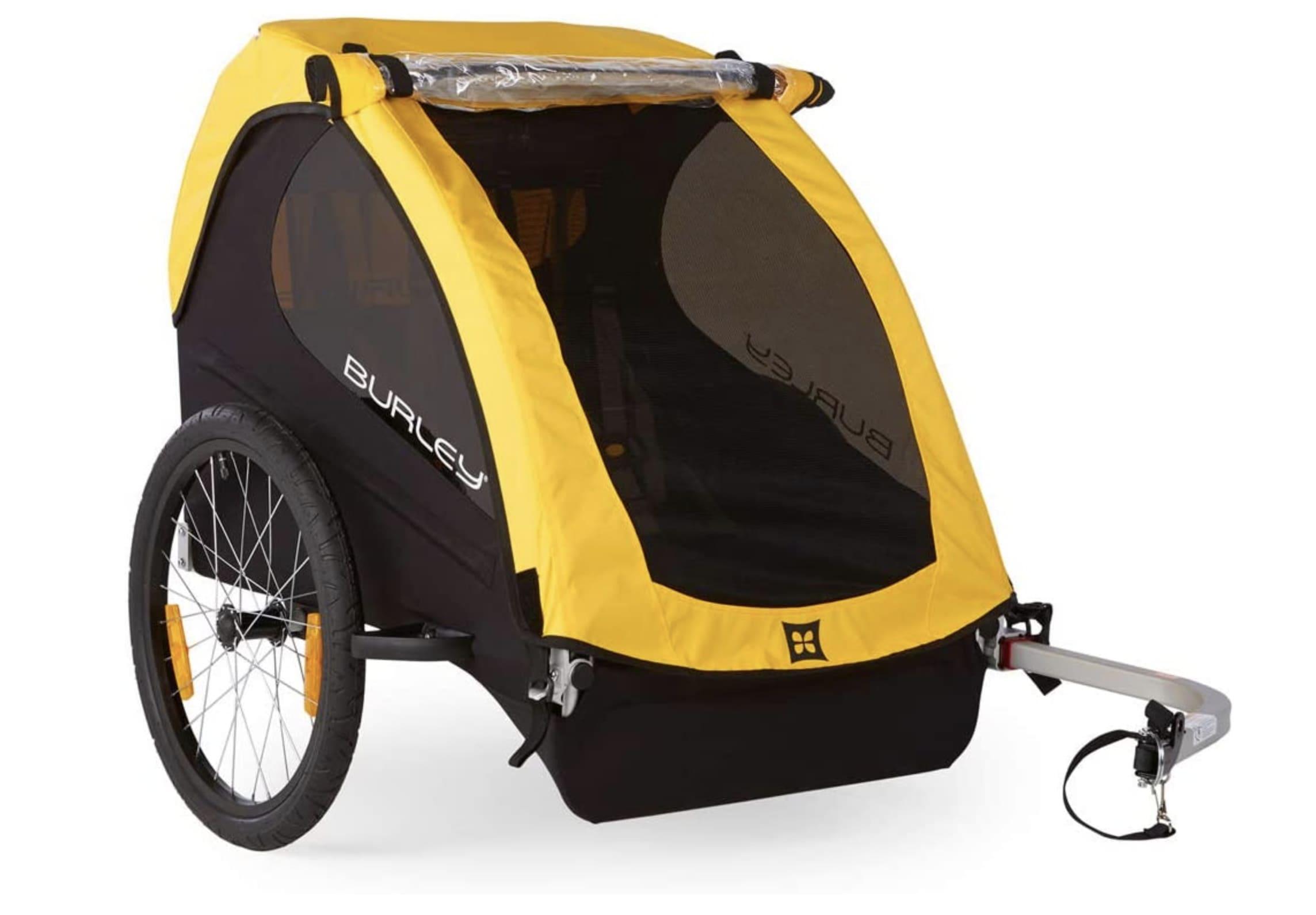Remolques bici para niños Burley Bee color amarillo