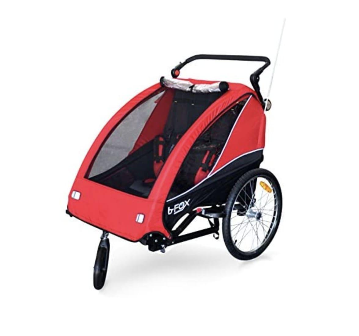 Remolques bici Papilioshop rojo