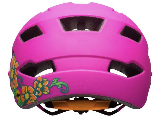 parte trasera casco bici bebe bell sidetrack rosa