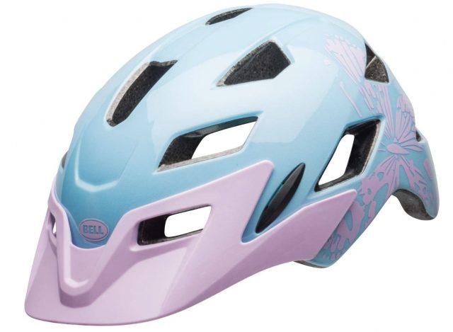 casco bici niño bell sidetrack rosa y azul