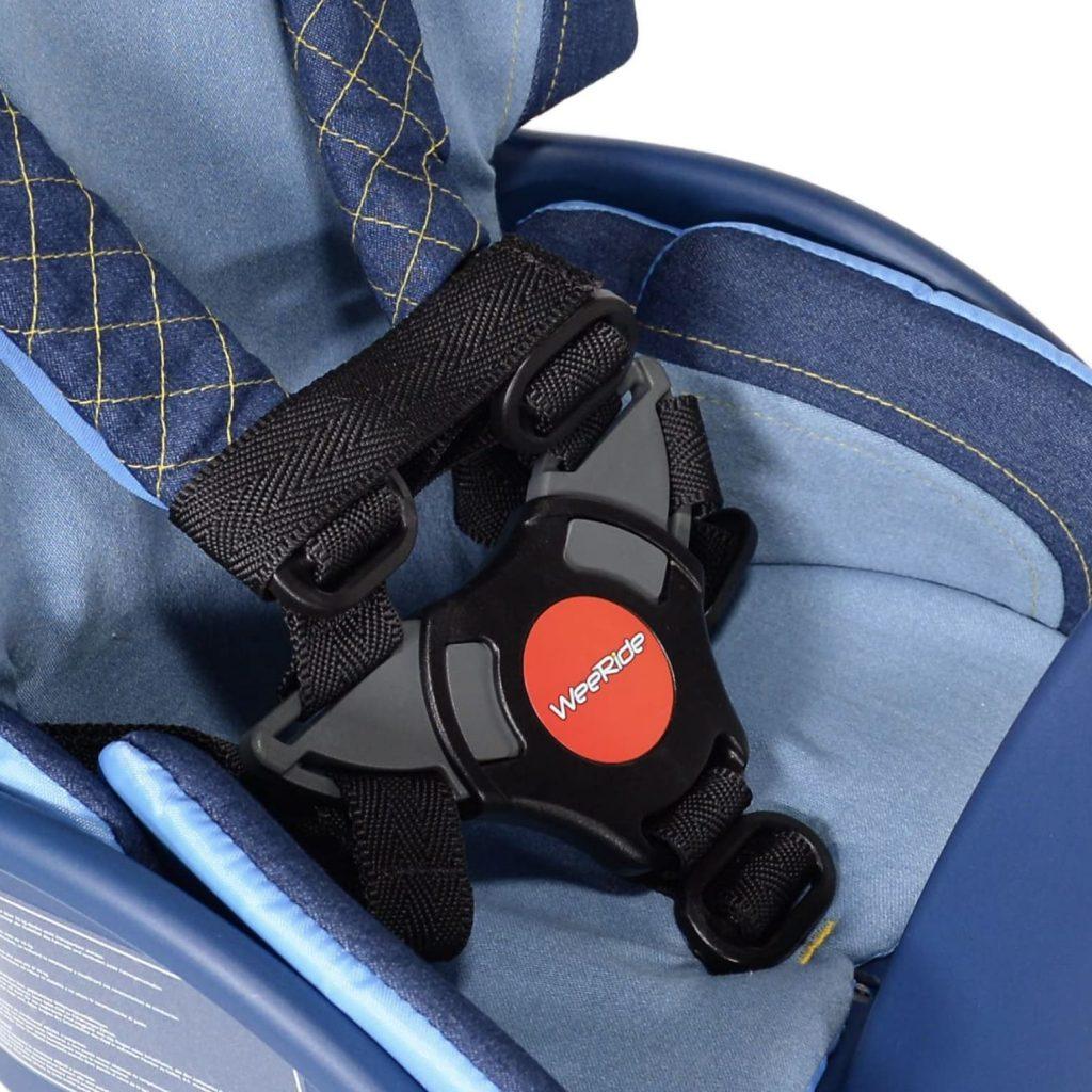correas de seguridad de la silla bebe weeride safe front deluxe