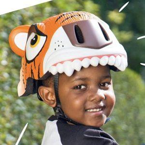 casco bici niño dinosaurio