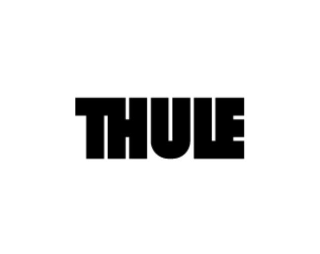 Logo marca de renolques de bicicleta y sillas portabebe Thule