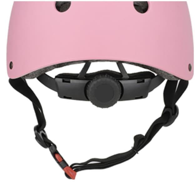 casco bici niño rosa dial trasero